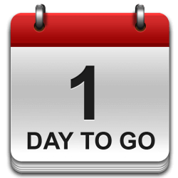 1 day to go!
